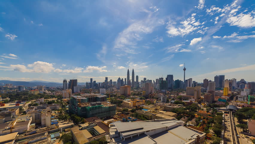Time lapse: Kuala Lumpur city view during morning overlooking the city skyline, 4k, ProRes. | Shutterstock HD Video #28957321
