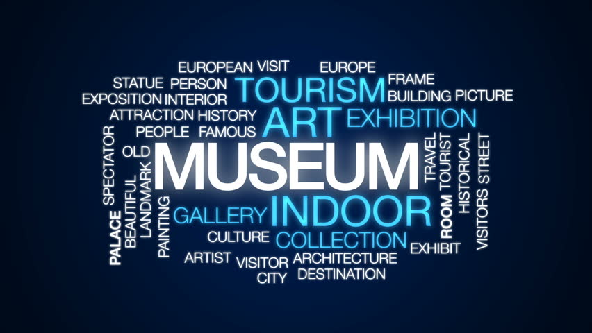 Museum animated word cloud, text design animation. | Shutterstock HD Video #28962973