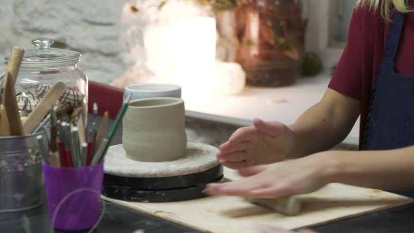 Preparing clay for pottery work | Shutterstock HD Video #28973215