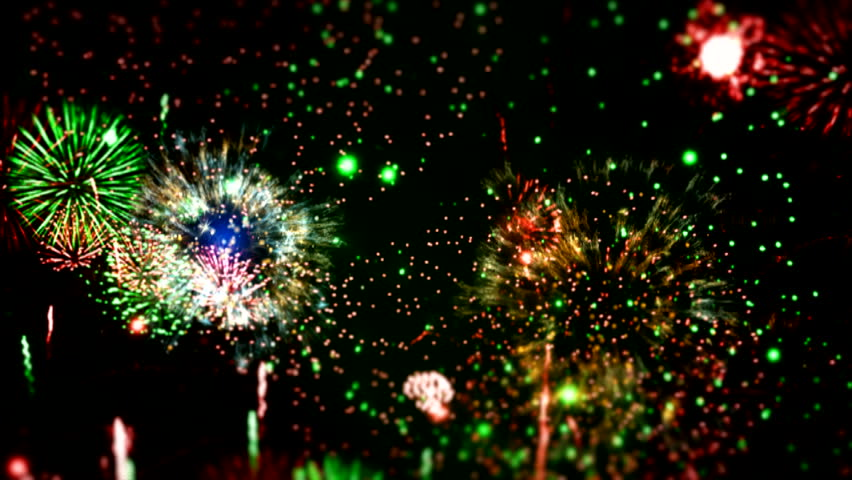 """Holiday Fireworks ( Series 6 - Version from 1 to 5 ) + [ built-in flash red and blue fireworks ] + """" You can find every week new Footage """"+"""" Have a look at the other Footage series """"+ [ With 1080p ]"""