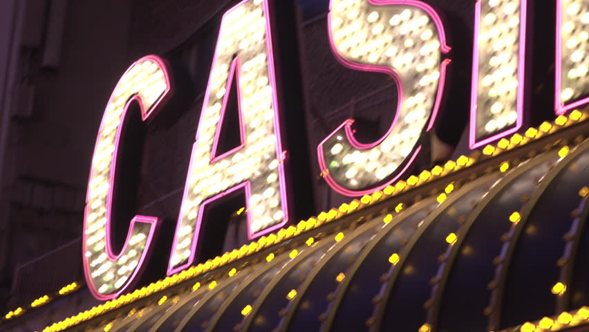 Casino exterior building sign establishing with excitement motion 4k | Shutterstock HD Video #29120095