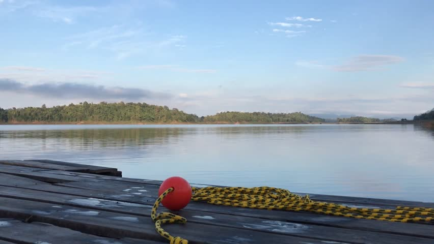 Raft on the river, Sangkhla Buri,Kanchanaburi, Thailand. | Shutterstock HD Video #29129158