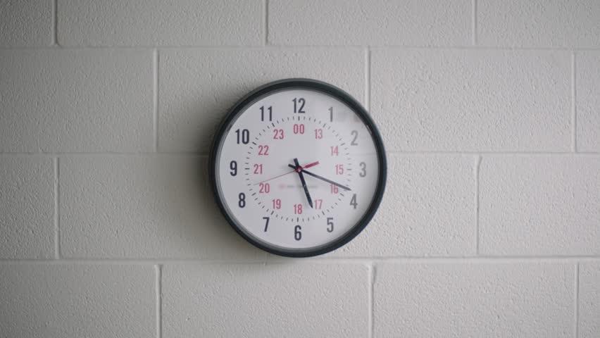 School clock in classroom. | Shutterstock HD Video #29222812