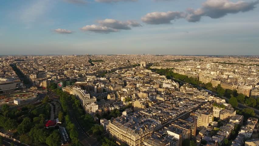 Paris Skyline Aerial View  | Shutterstock HD Video #29225809
