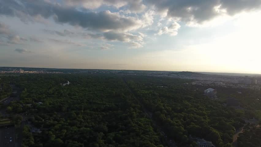 Paris Sunset Skyline Aerial View  | Shutterstock HD Video #29226700