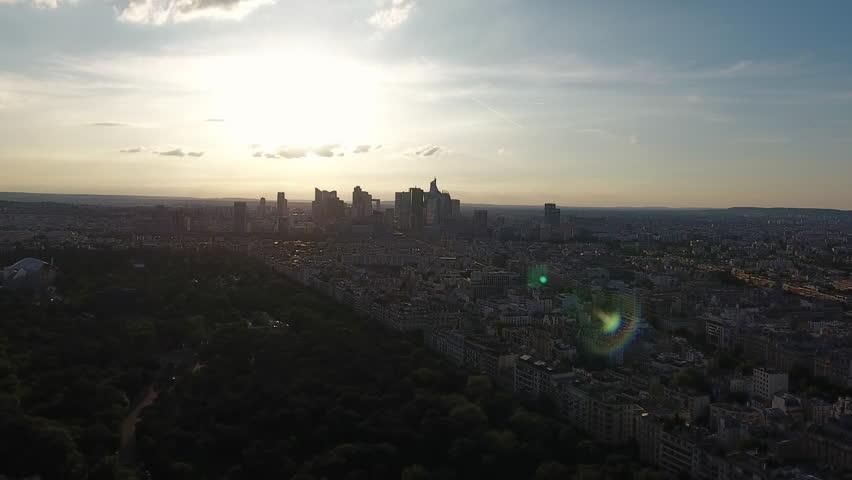 Paris Sunset Skyline Aerial View | Shutterstock HD Video #29226709