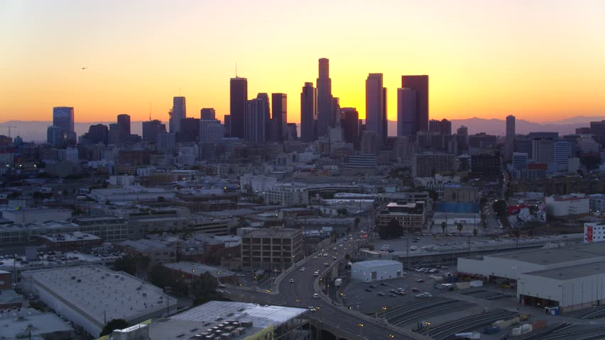 Downtown Los Angeles at Sunset   Shutterstock HD Video #29228590