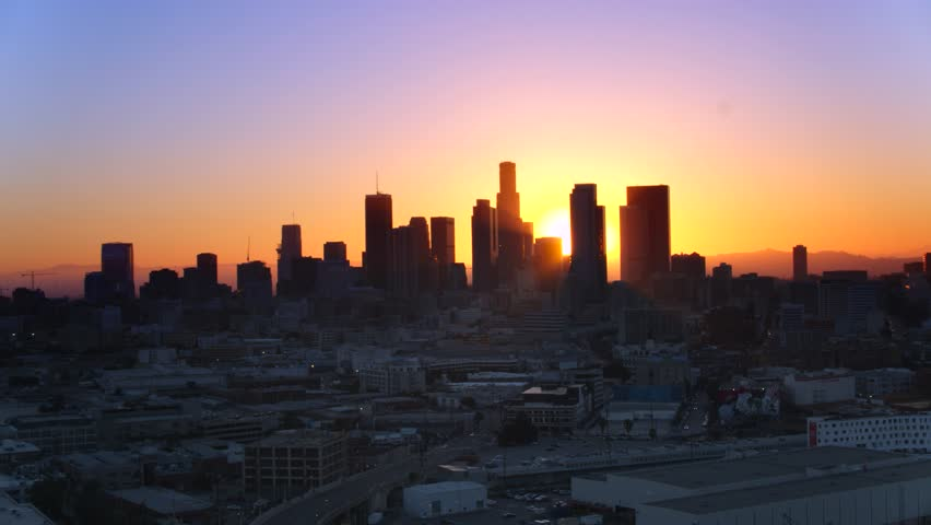 Downtown Los Angeles at Sunset   Shutterstock HD Video #29228608
