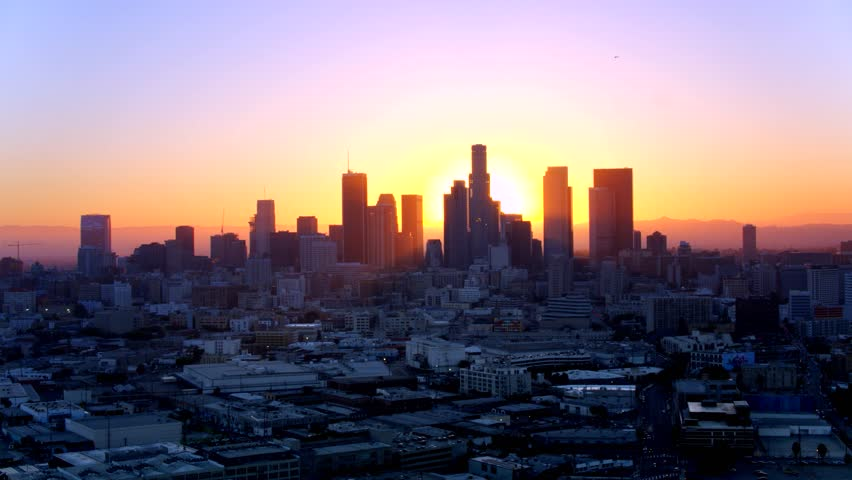 Downtown Los Angeles at Sunset   Shutterstock HD Video #29228626
