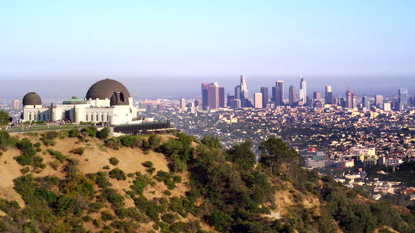 Griffith Park Observatory and view of Downtown Los Angeles   Shutterstock HD Video #29228779