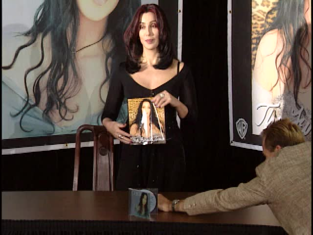 Santa Monica, CA - NOVEMBER 24, 1998: Cher, walks the red carpet at the Cher Book Signing 1998 held at the Borders Bookstore | Shutterstock HD Video #2924128
