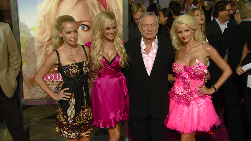 Los Angeles, CA - AUGUST 20, 2008: Kendra Wilkinson, Bridget Marquardt, Hugh Hefner, Holly Madison walks the red carpet at the The House Bunny Premiere held at the Mann Village Theatre