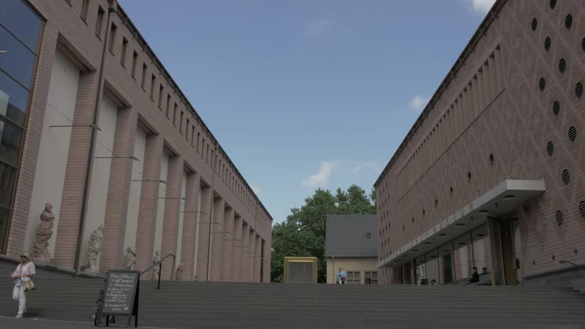 FRANKFURT, GERMANY, Circa July 2017 – People walking in front of History Museum in Frankfurt