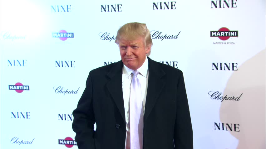 New York, NY - DECEMBER 15, 2009: Donald Trump, Melania Trump, walks the red carpet at the Nine Premiere held at the Ziegfeld Theater
