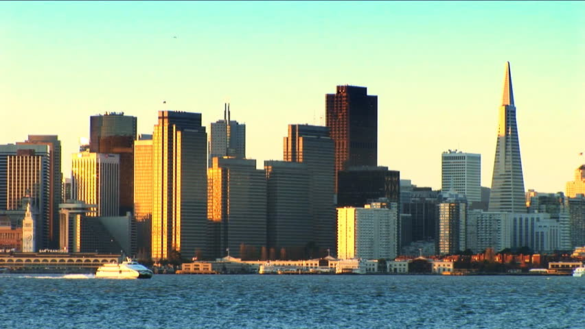 San Francisco from across the bay - HD stock video clip