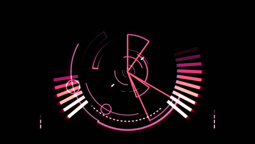 Pink radar screen against a black background - HD stock footage clip