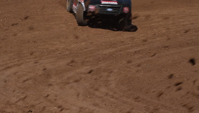 CHANDLER, AZ - OCT 26: Racers take hot laps during a practice session for the Lucas Oil Off Road Series racing on October 26, 2012 at Firebird International Raceway in Chandler, AZ. - HD stock video clip