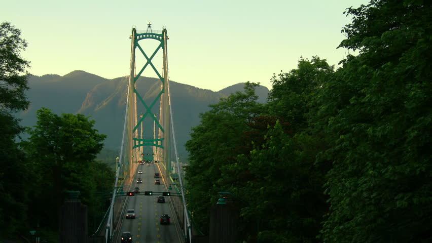 Time Lapse of Lion Gate Bridge in Vancouver