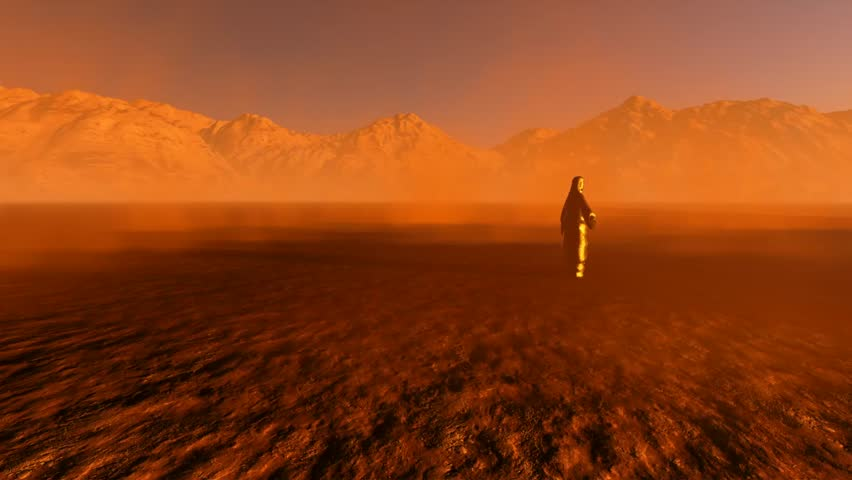 Jesus The Redeemer In The Desert Stock Footage Video