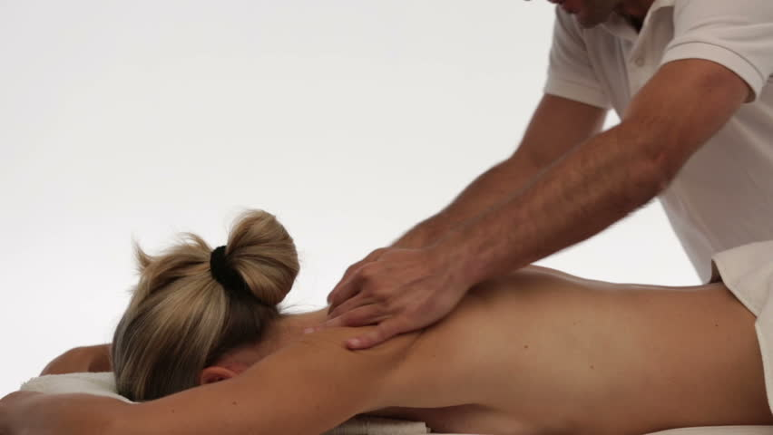 woman enjoying back massage
