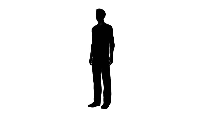 man silhouette standing to the side pictures to pin on