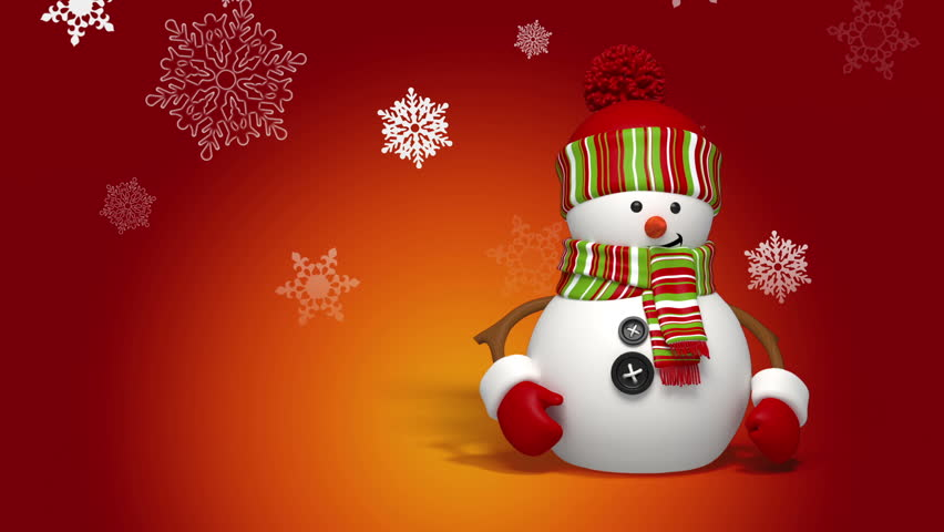 Snowman greeting | Shutterstock HD Video #3016945