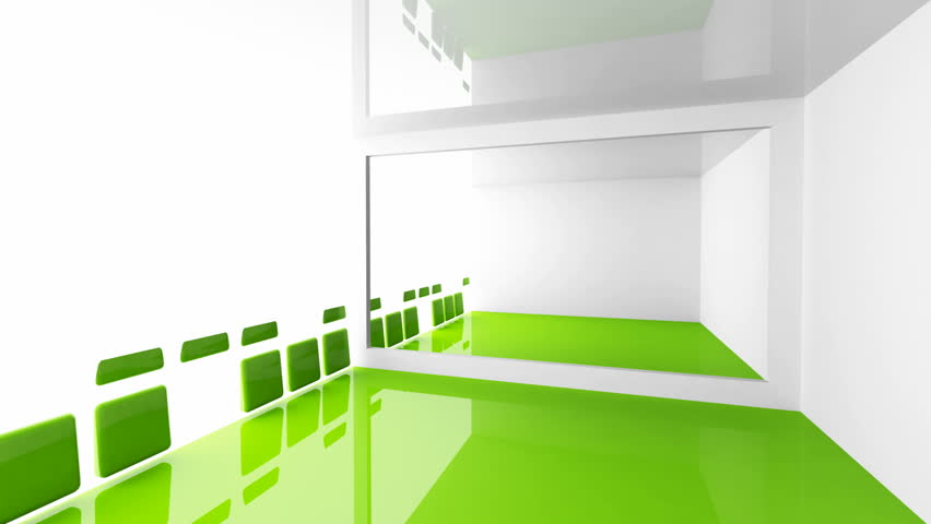 Abstract architecture background empty white and green for Interior design video clips