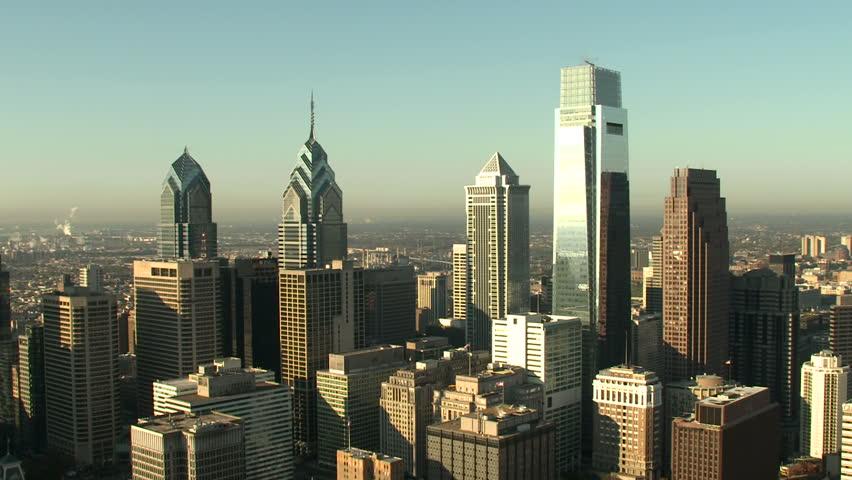 Aerial shot of Philadelphia