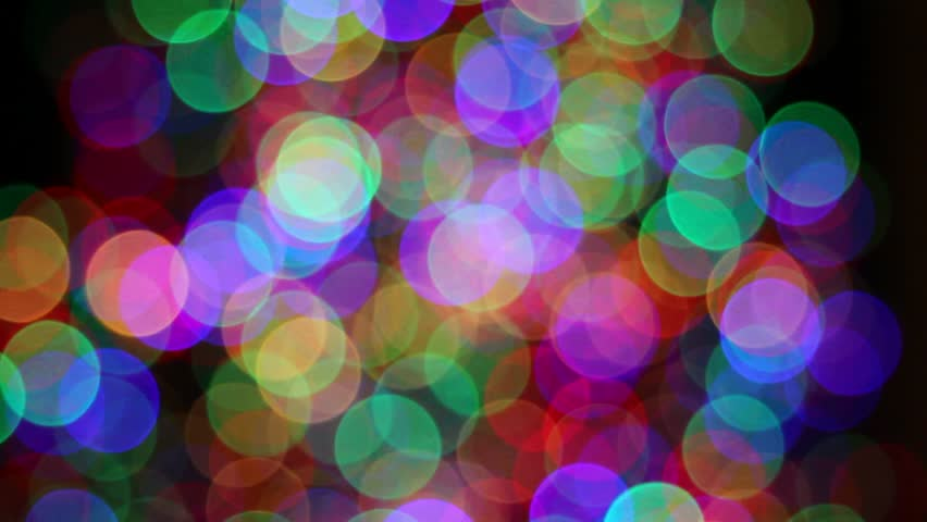Twinkling Lights Background Blurred colorful christmas lights on black ...