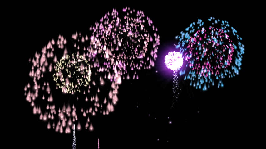Fireworks - HD stock footage clip