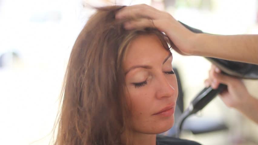 beauty salon - HD stock video clip