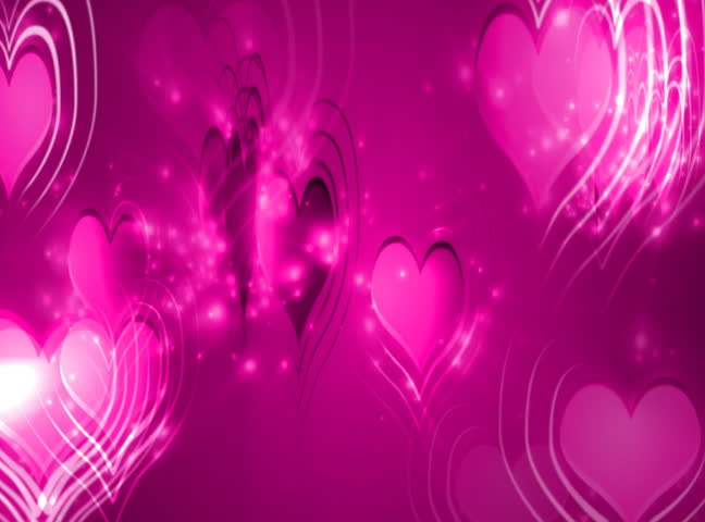 Falling Love Hearts - valentine's day background loopable - NTSC - SD stock video clip