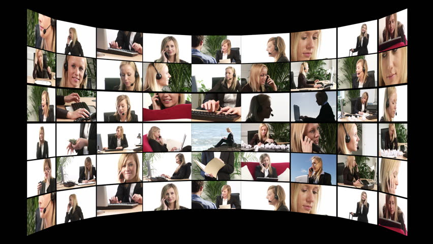 Business People Montage - HD stock video clip