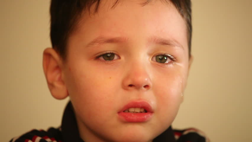 little boy crying 2 - HD stock footage clip