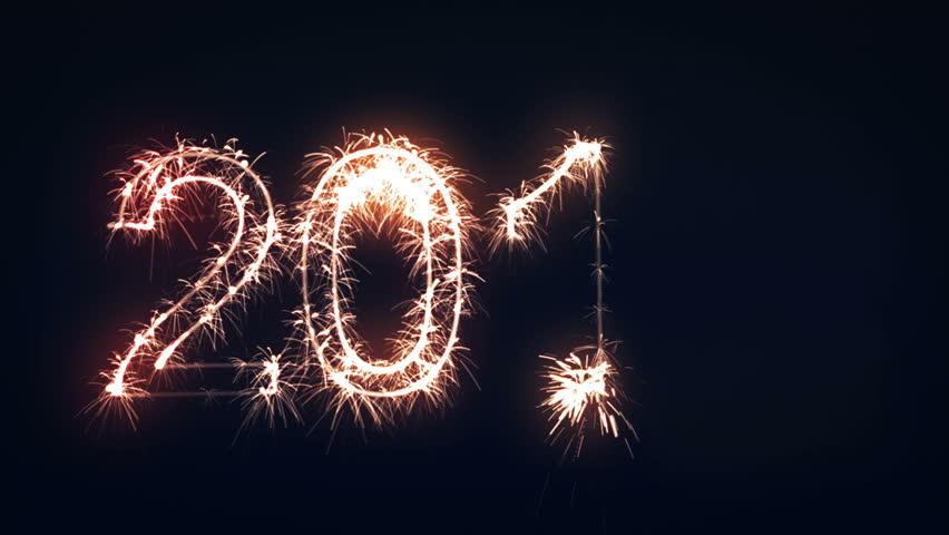 2013 Sign, New Year Sparkler