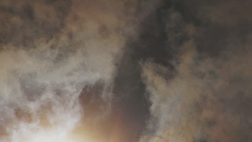 Amazing surreal clouds, backlit - HD stock video clip