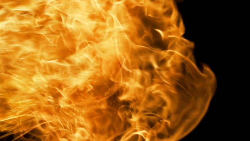 Vertical Fire Blast of Close Flame Slow Motion