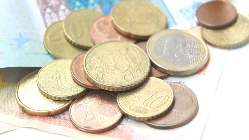 Zoom in Shot  Euro  Money