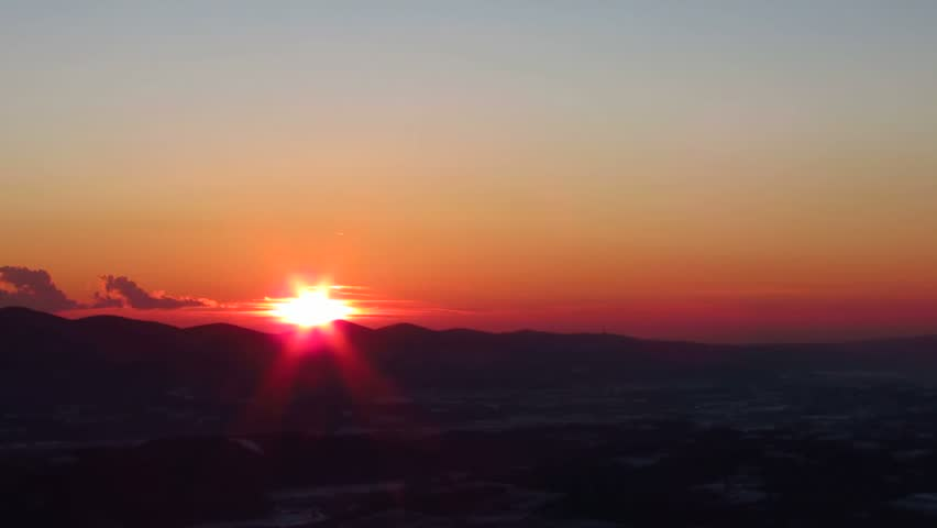 Beautiful colorful sunset. Time-lapse, speed. - HD stock video clip