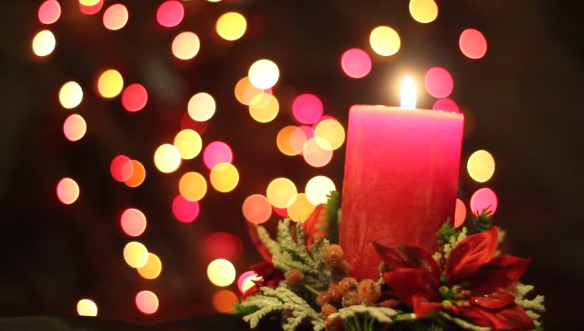 advent wreath with red candles and pine  dark background