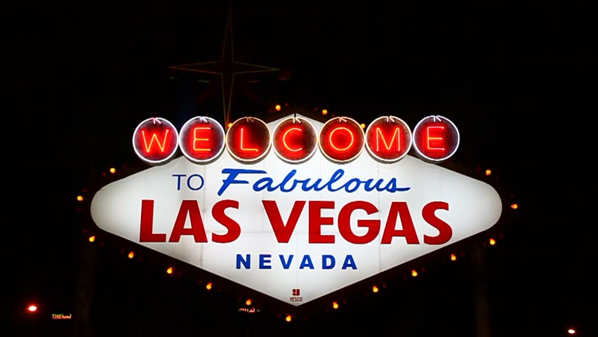 LAS VEGAS - DECEMBER 03: The famous Welcome to Fabulous Las Vegas Sign on December 03, 2011 in Las Vegas. The lighted landmark has been welcoming visitors to the city since 1959. | Shutterstock HD Video #3152764