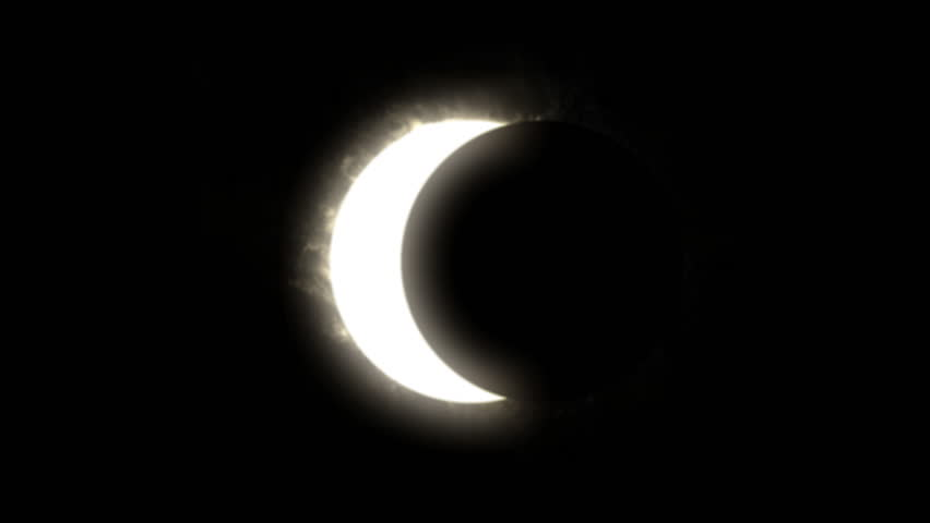 The total solar eclipse  - HD stock video clip