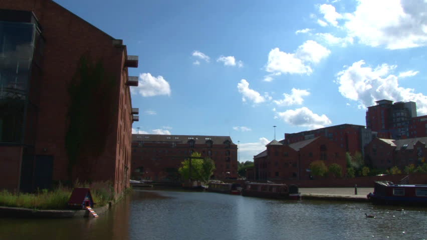 Canal and bridges at Castlefield in Manchester.