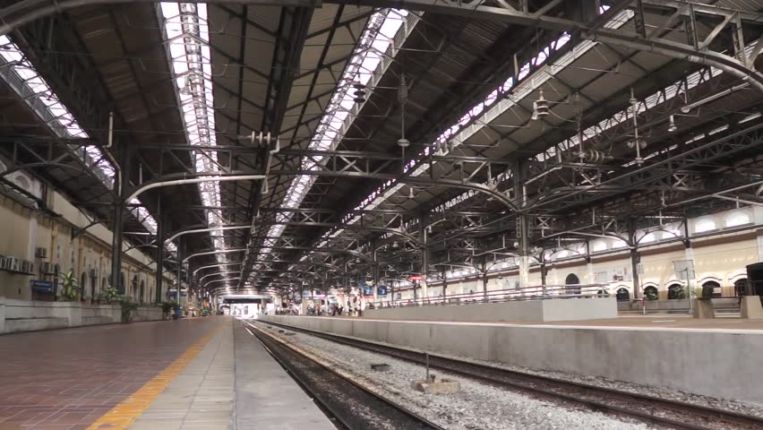 Fast Train Pass By at Railway Station