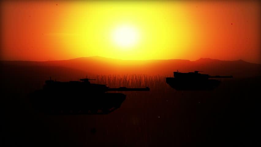 Computer Generated Battlefield W/5 battle scenes (silhouettes) World War II ...