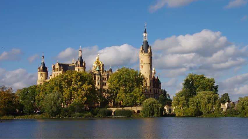 Schwerin palace  - HD stock video clip