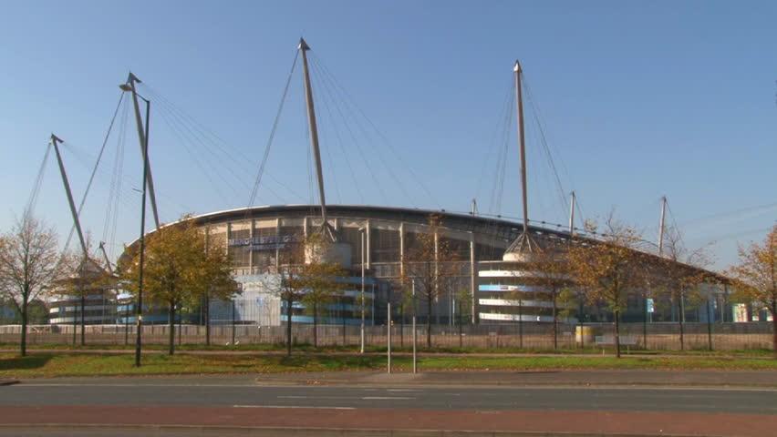 MACHESTER, ENGLAND - CIRCA 2011: The renamed City of Manchester Stadium, home of Manchester City Football Club.