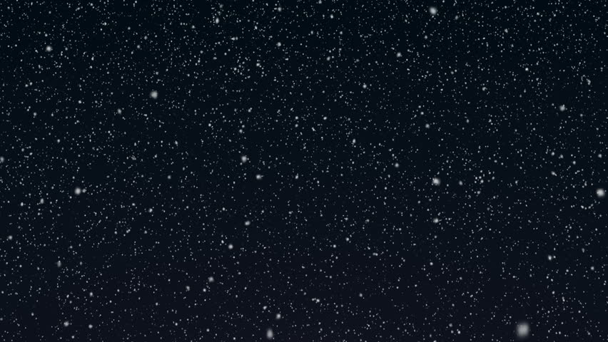 Snowy 3 - Gently Falling Snow Video Background Loop /// Snow falling slowly and gently in front of a blueish night background. A calm and contemplative 'Silent Night' video loop. | Shutterstock HD Video #3211894