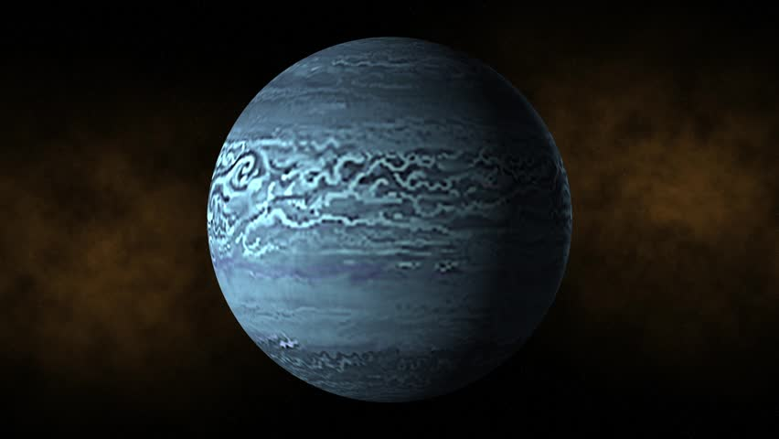 Planet neptune space, stars - HD stock footage clip
