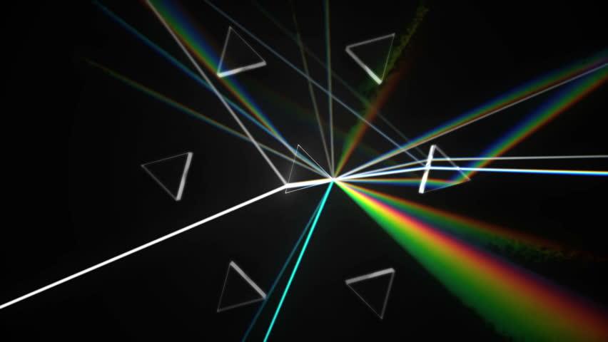 Prisms dispersing white light - HD loop